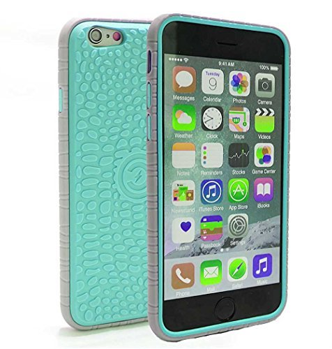 Cable And Case Schutzhülle für iPhone 6, Blaugrün/Grau