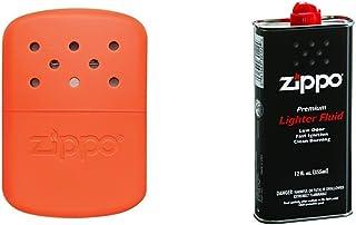 Zippo Hand Warmer, 12-Hour - Blaze Orange with Lighter Fluid, 12 oz.