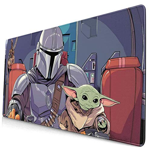 Star Wars - The Mandalorian - The Child Large Gaming Mouse Pads,with Non-Slip Computers Laptop Office&Home 750×400×3mm (29.5×15.8×0.12 Inch)