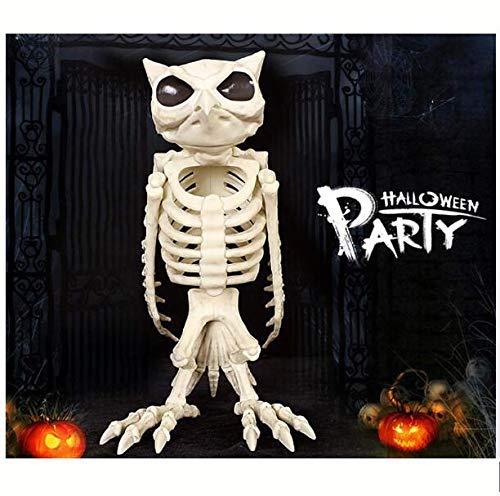 ALBB Halloween Esqueleto Animal Decoracion Esqueleto Buho Esqueleto Animal Huesos Modelo Halloween Navidad Prop Animal Horror Casa Decoracion de Fiesta Accesorio Decoracion Interior al Aire Libre
