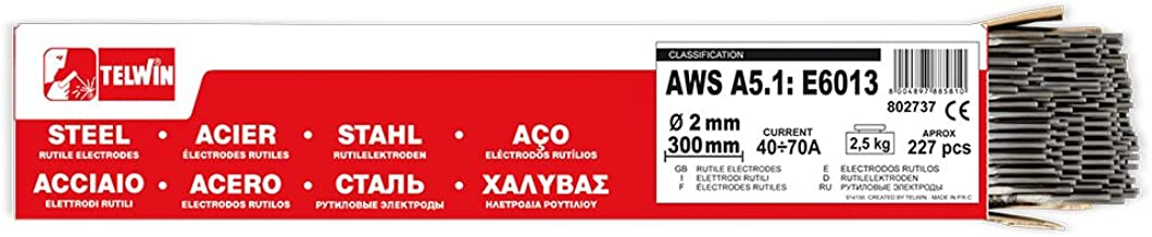 Telwin - Paquete rutilos acero AWS A5.1: E6013, ?227 ± 3 uds piezas aprox. Ø 2 x 300 mm, 2,5 kg