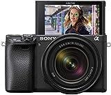 Sony Alpha 6400 | APS-C Spiegellose Kamera mit Sony 18-135mm f/3.5-5.6 Zoom-Objektiv ( Schneller 0.02s Autofokus 24.2 Mp, 4K Filmaufnahme, neigares Display für Vlogging)