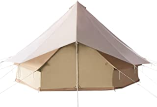 Canvas Tent for Family Camping 5 Meters Waterproof Outdoors Large Yurt Bell Tent Glamping