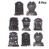 UPKOCH 8 Piezas de lápidas de Halloween decoración del Patio de la Tumba