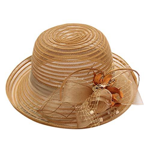 Morran Sombrero de Disquete Beach Sombreros de Paja de Sun Gorras de...