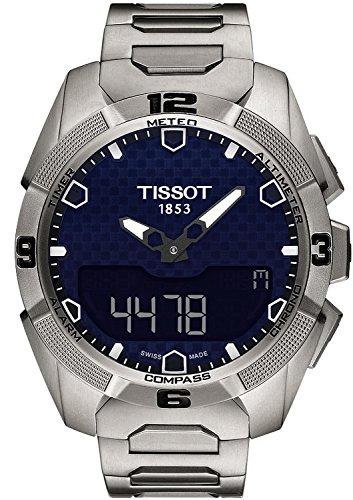 Gifts and Jewels Co. Tissot Tissot T-Touch Esperto solare Blu Quadrante Acciaio inox Acciaio Mens Orologio T0914204404100