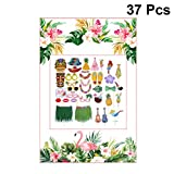 Amosfun 37 stücke Hawaii Luau Photo Booth Rahmen Tropische Photo Booth Requisiten Bilderrahmen...