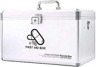 AINIYF Storage Box Small Medicine Box Lock Box First Aid Kit Medicine Storage Box Home Medical Box Medicine Storage (Color : White)