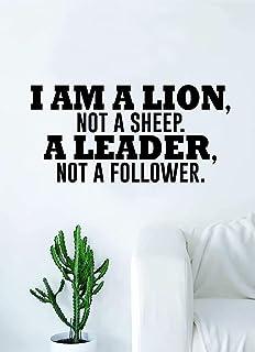 Diuangfoong I Am A Lion Not A Sheep Quote Wall Decal Sticker Room Bedroom Art Vinyl Inspirational Decor Motivational Inspi...