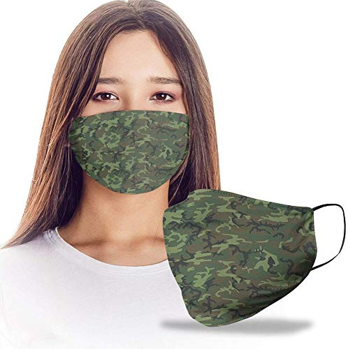 ERDL Camouflage Camo Pattern Reusable Washable Nose Mouth Protection Women Men For Dust Protection