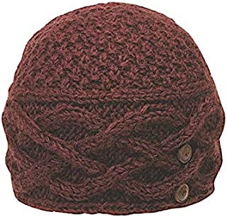 Women's Warm Winter Wool Textured Cable Knit Celtic Beanie | Ethical Fair Trade Production | Handmade in Nepal