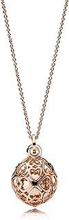 Pandora Harmonious Hearts Chime Rose Gold Necklace 38729990