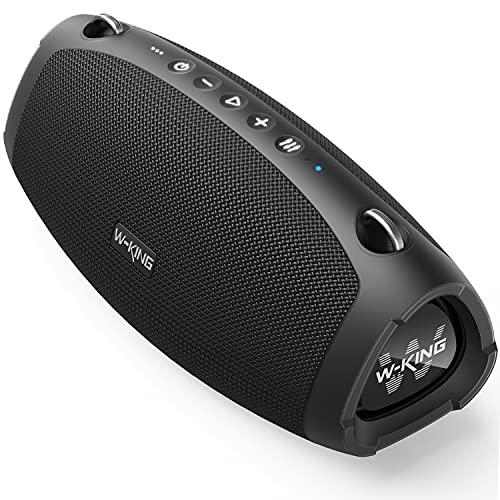 W-KING 70W Bluetooth-Lautsprecher mit Super-Bass, Schnellladung, Bluetooth 5.0, 15000-mAh-Akku, IPX6 wasserdicht, lautes kristallklares Audio, Mikrofon für Outdoor, Party, Camping, Zuhause