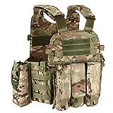 BGJ Chaleco táctico 6094 Molle, Chaleco Militar de Combate, Armadura Corporal, ejército, Airsoft, Paintball, Juego de Guerra, Placa, Chaleco Portador, Accesorios de Caza