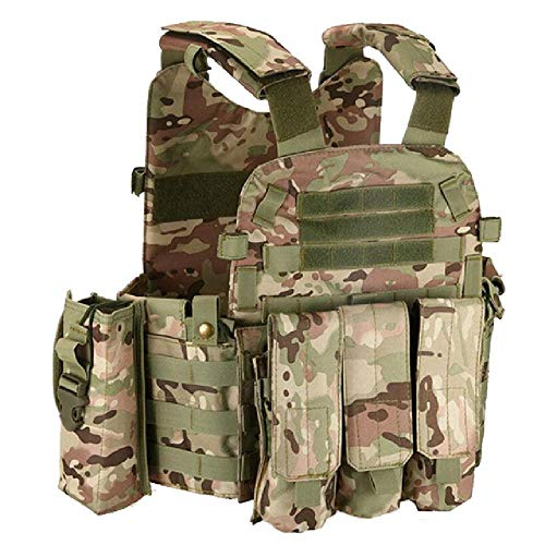 Tactical 6094 Molle Vest Military Combat Body Armor Vest Army Airsoft Paintball Wargame Plate Carrier Vest Hunting Accessories