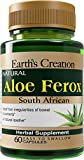 Earth's Creation South African Cape Aloe Vera Ferox Natural Laxative, 60 Capsules