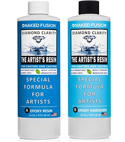 Epoxy Resin Art Resin Crystal Clear Formula - The Artist's Resin for Coating, Casting, Resin Art, Geodes, River Tables, Resin Jewelry- Non-Toxic -32 Oz Kit