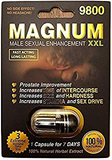 New Magnum XXL Black - Natural Energy Booster and Game Changer! Black Capsule 9800 (40) Plus Love Potion Pen