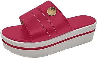 DAIFINEY Strandsandalen voor dames, platformschoenen, comfortabele pantoffels, behaaglijk voor binnen en buiten, voor vrij...