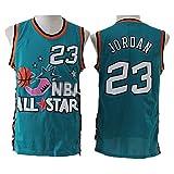BXWA-Sports Jerseys de Baloncesto para Hombre All-Star # 23 Michael Jordan Cómodo sin Mangas Retro Deportes Camiseta Chaleco Jerseys,M