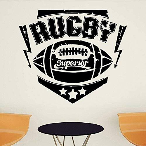 Rugby Sport Wandaufkleber Kopfteil Kinderzimmer Hintergrunddekoration Vinyl Sport Wandtattoos Wohnzimmer Kunstdekoration 46x39cm