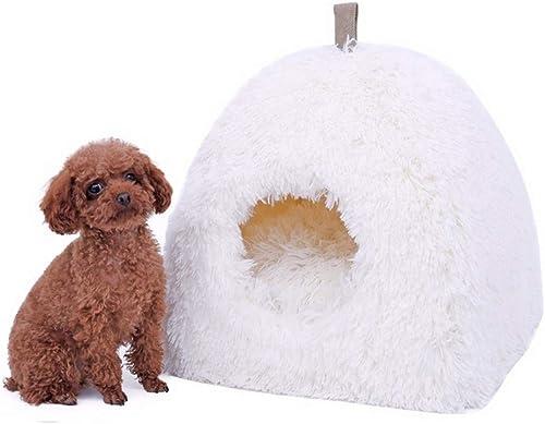 elige tu favorito Wuwenw Soft Cat House Peluche Plegable De De De Leopardo Easy Hang Dog Bed Animal Cave Nest Puppy blanco Dog Kennel Lindo Pet Cat Dog House High  compras online de deportes