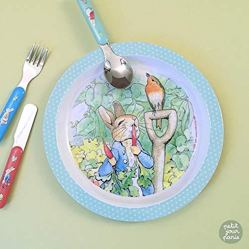 Petit Jour Paris - Coffret vaisselle d'apprentissage Pierre Lapin - pour apprendre à manger comme un grand