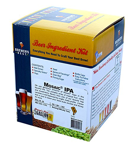 Brewer's Best One Gallon Home Brew Beer Ingredient Kit (Mosaic IPA)