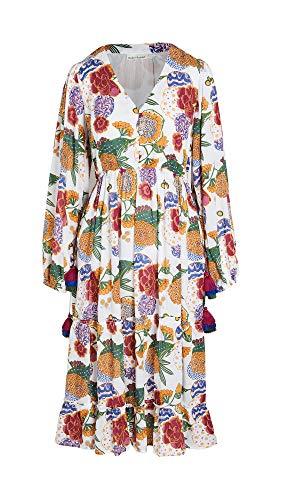 Roller Rabbit Women's Cheri Floral Kiana Dress, White, Small