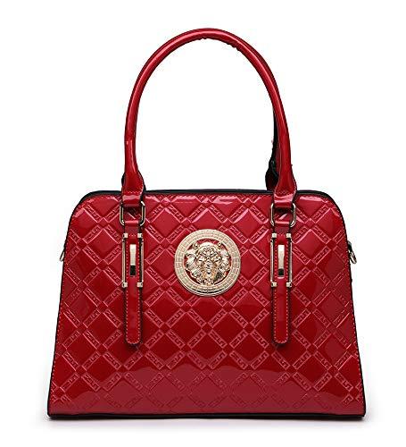 Ladies Unique Lion Face Designed Shoulder Bag Red 34(W) x 13(D) x 24(H) CM New