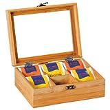 Kesper Tee-Box Bambus, Holz, braun 21.7 x 16 x 9 cm