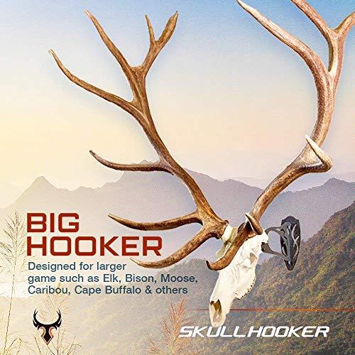 Skull Hooker Big Hooker European Trophy Mount – Perfect Kit for Hanging and Mounting Taxidermy Elk, Moose, & Caribou Antlers Skulls for Display – Robust Brown