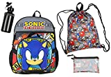 Sonic the Hedgehog 16' Backpack 5 PC Combo Set