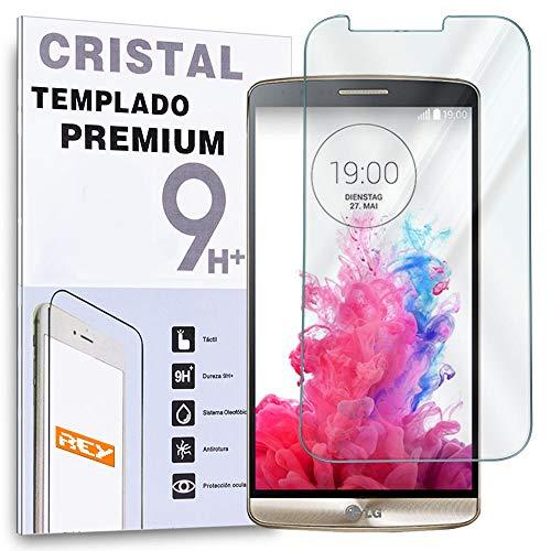 REY Protector de Pantalla para LG G3 s / G3 Mini Cristal Vidrio Templado Premium