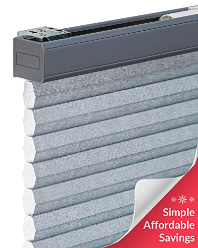 "CHICOLOGY Cordless Cellular Shades Privacy Single Cell Window Blind, 30"" W X 48"" H, Morning Pebble"