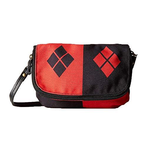 Suicide Squad School Bag Mochila de Colegio de Estilo Simple Bolso Mensajero Anime Bolso periférico Bolsa de Viaje Mochila Suicide Squad Mochila Impermeable (Color : A01, Size : 25 X 10 X 15cm)