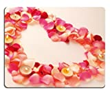 Variety Colors Flower Petals Heart Mouse Pads Customized Made to Order Support Ready 9 7/8 Inch (250mm) X 7 7/8 Inch (200mm) X 1/16 Inch (2mm) Eco Friendly Cloth with Neoprene Rubber Liil Mouse Pad Desktop Mousepad Laptop Mousepads Comfortable Computer Mouse Mat Cute Gaming Mouse_pad