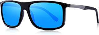 OLIEYE Polarized Square Sunglasses for Men Sports Aluminum Legs O8132