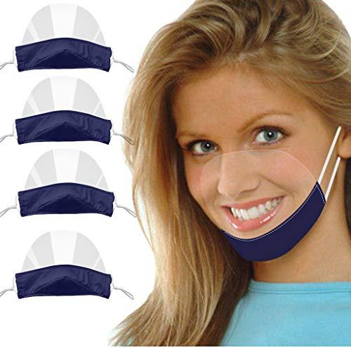 4 Stück Visier Gesichtsschutz Transparent Offene Face Shield Gesichtsschild Schutzschild Wiederverwendbar Waschbar Visiermaske Schutzvisier