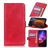 BELLA BEAR Funda para LG K42 Caratula de Billetera Función de Soporte Material Suave Carcasa de Telefono Cubierta para LG K42(Rojo)