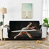 Un elegante y joven bailarina de ballet Silla reclinable Funda deslizante Fundas de sofá Seccional Funda sillón chaise longue 66 '(168 cm) para 3 asientos Funda para silla con brazo de lavado a máqui