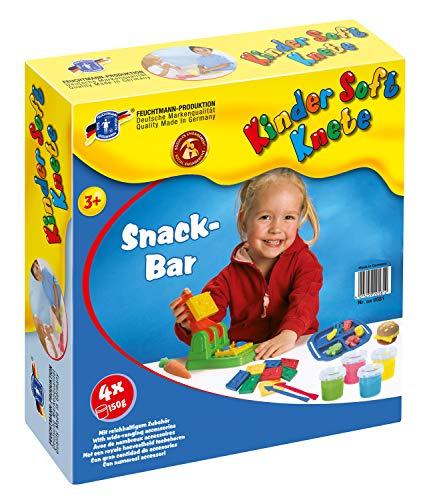 Feuchtmann Spielwaren 6280581 - Kinder Soft Knete Snackpresse mit Knete, Relief-Förmchen, Teller sowie Modellierwerkzeugen