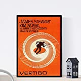 Nacnic Poster Vintage. Cartel Cine Vintage Vertigo - Hitchcock. Tamaño A3