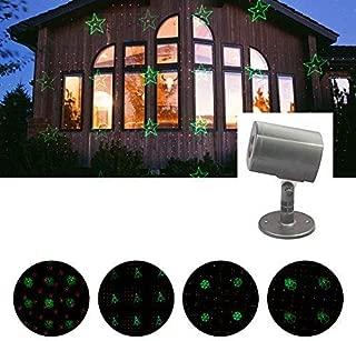 Erkeli LED Projector Lights, Landscape Spotlight, 6 Patterns Chaning Decorative Spotlight Projection Light Show for Christmas, Halloween, House, Garden, Yard, Party Decoration