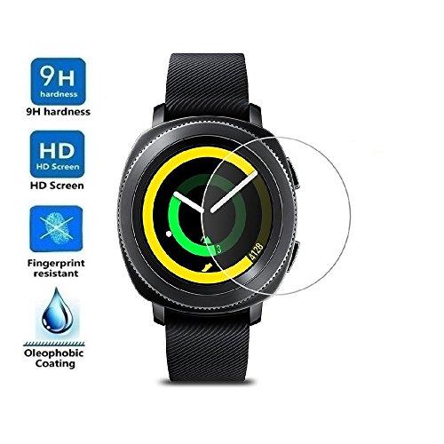 ELECTRÓNICA REY Protector de Pantalla para Samsung Gear Sport SM-R600, Cristal Vidrio Templado Premium