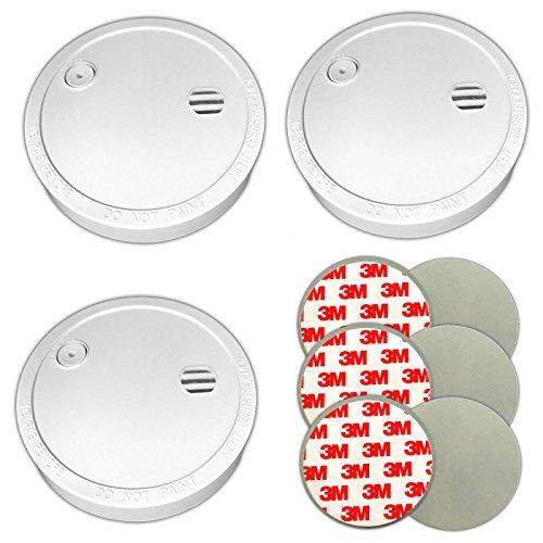 3x rookmelder & magneethouder kleefpads vuurmelder zonder boren 5 jaar batterij