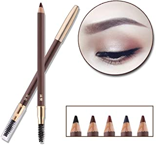 HanZan Eyebrow Pencil Longlasting Waterproof Durable Automaric Liner Eyebrow 5 Colors to Choose (5# Brown)