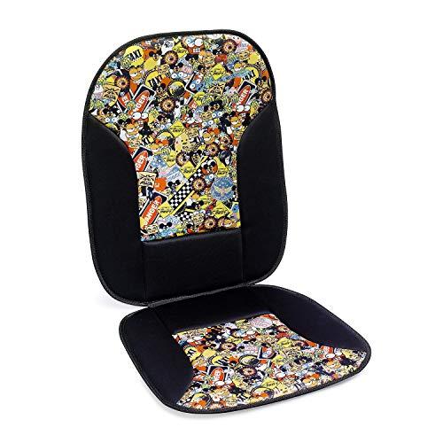 Stickerbomb Seat Design Colour Sign voor autostoelen | Universeel passend | Zitkussen beschermt je autostoelen | eenvoudige installatie