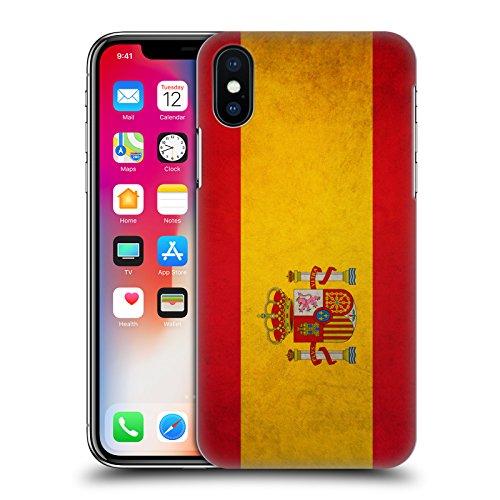 Head Case Designs Spanien Spanisch Vintage Fahnen Harte Rueckseiten Huelle kompatibel mit iPhone X/iPhone XS