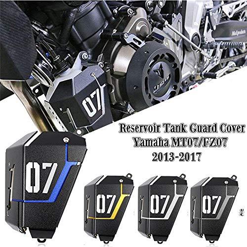 FATExpress Motorrad Kühler Wasserkühler Tankschutzhaube für 2013-2016 Yamaha FZ-07 MT-07 FZ07 MT07 FZ MT 07 2014 2015 13-16 (Silber)